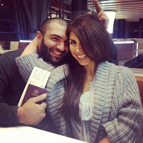 عکس حصین و همسرش