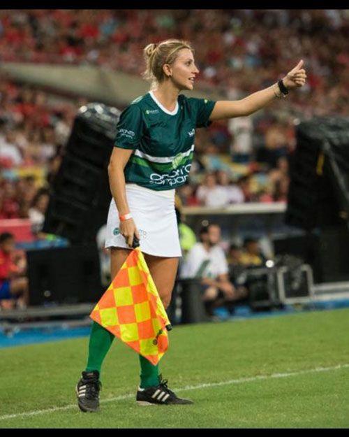 فرناندا کلمبو داور زیبایی زن در بازی های فوتبال جام های اروپا